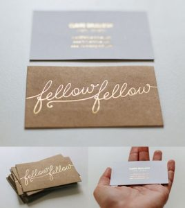 44-Gold Foil Stamped Business Cards – The Unique and Potential Service Provider